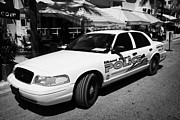 Patrol Car Framed Prints - Miami Beach Police Patrol Car Vehicle South Beach Florida Usa Framed Print by Joe Fox