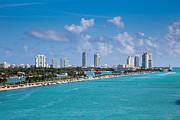 Miami Beach Skyline Print by Rene Triay Photography