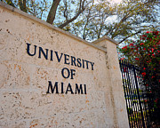 Miami Photo Posters - Miami Campus Sign in Spring Poster by Replay Photos
