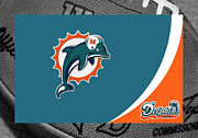 Cleats Prints - Miami Dolphins Print by Joe Hamilton