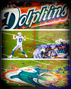 Dolphins Digital Art - Miami Dolphins by Martha Vega