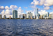 Miami Pyrography Prints - Miami Downtow skyline Print by Eyzen Medina