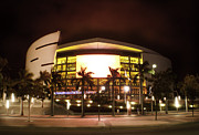 Lebron Photo Metal Prints - Miami Heat AA Arena Metal Print by Andres LaBrada