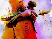 Big 3 Digital Art Prints - Miami Heat Big 3 Print by Brian Reaves