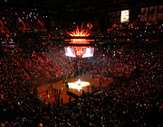 American Airlines Arena Prints - Miami Heat  Print by J Anthony