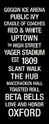 Uptown Posters - Miami Ohio College Town Wall Art Poster by Replay Photos