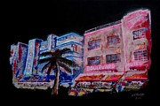 Edward Hopper Paintings - Miami Outside In by Andrew Roy Thackeray