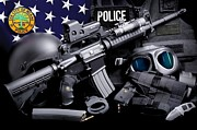 Police Department Framed Prints - Miami Police Tactical Framed Print by Gary Yost