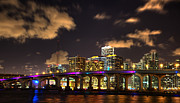 Miami Skyline Posters - Miami Skyline Poster by Shawn Everhart