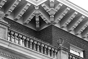 University Buildings Images Posters - Miami University Hall Auditorium Detail Poster by University Icons