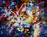 Original Oil Paintings - Miaw by Leonid Afremov