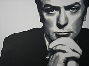 Michael  Caine Paintings - Michael Caine 2013 by Luis Ludzska