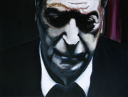 Michael  Caine Paintings - Michael Caine - SOLD- by Brendon Taylor