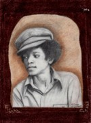 Jackson 5 Drawings - Michael by Cassandra Allsworth