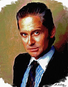Motion Picture Star Prints - Michael Douglas Print by Allen Glass