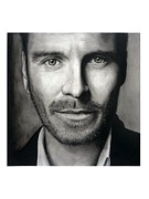 Michael Drawings Framed Prints - Michael Fassbender Framed Print by Stefania Spigato