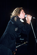 Michael Hutchence Prints - Michael Hutchence Print by David Plastik
