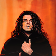 Singer Painting Framed Prints - Michael Hutchence Framed Print by Paul  Meijering