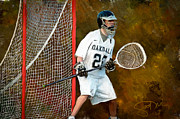 Scott Melby Metal Prints - Michael in Goal Metal Print by Scott Melby