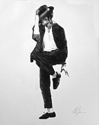 Michael Drawings Posters - Michael Jackson Poster by Adam Barone