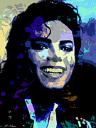 Allen Glass Framed Prints - Michael Jackson Framed Print by Allen Glass