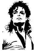 Michael Jackson Prints - Michael Jackson Art Portrait Print by Sanely Great