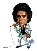 Caricatures Painting Prints - Michael Jackson Print by Art