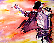 Moon Painting Prints - Michael Jackson-Billie Jean Print by Joshua Morton
