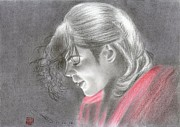 Michael Jackson Drawings Prints - Michael Jackson - Blood On The Dance Floor Print by Eliza Lo