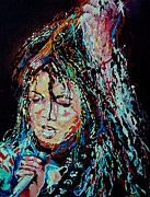 Michael Jackson Portrait Painting Originals - Michael Jackson - Burn It by Merv Scoble