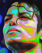 Michael Jackson Canvas Posters - Michael Jackson Poster by Byron Fli Walker