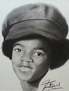 Signed Prints Drawings - Michael Jackson charcoal by Lance  Freeman