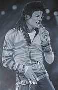 Michael Jackson Metal Prints - Michael Jackson Metal Print by David Dunne