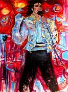 Jackson 5 Drawings - Michael Jackson Ill Be There by Helena Bebirian
