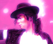 Michael Jackson Metal Prints - Michael Jackson King of pop Metal Print by Gina Dsgn