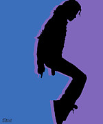 Michael Digital Art Originals - Michael Jackson King of Pop by Tony Rubino