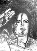 Michael Drawings Framed Prints - Michael Jackson Framed Print by Marcello Cicchini