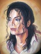 Pop Singer Pastels Framed Prints - Michael Jackson Framed Print by Martha Suhocke