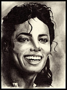 Michael Drawings Framed Prints - Michael Jackson Framed Print by Monica Sutrisna