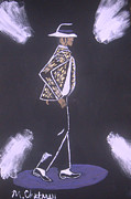 Michael Jackson Moonwalking Print by Michael Chatman