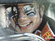 Michael Jackson Digital Art - Michael Jackson - Mosaic by Paulette Wright