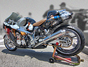 Michael Jackson Art - Michael Jackson Motorcycle by Hot Rod Pics