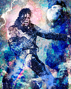 Mj Paintings - Michael Jackson Original Painting  by Ryan Rabbass