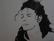 Michael Drawings Framed Prints - Michael Jackson Framed Print by Pavan Obhan