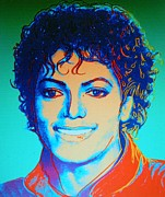 Michael Jackson Metal Prints - MICHAEL JACKSON    Pop Art Metal Print by Gunter  Hortz