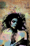 Michael Jackson Art - Michael Jackson - Scatter Watercolor by Paulette Wright