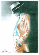 Michael Jackson Drawings Framed Prints - Michael Jackson - Smooth Criminal Framed Print by Eliza Lo