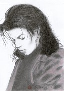 Acrylic Prints Drawings - Michael Jackson - Stranger In Moscow by Eliza Lo