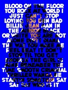 Mj Framed Prints - Michael Jackson - The Songs Framed Print by Spencer McKain