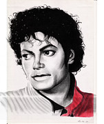 Michael Drawings Framed Prints - Michael Jackson - Thriller Framed Print by Eliza Lo